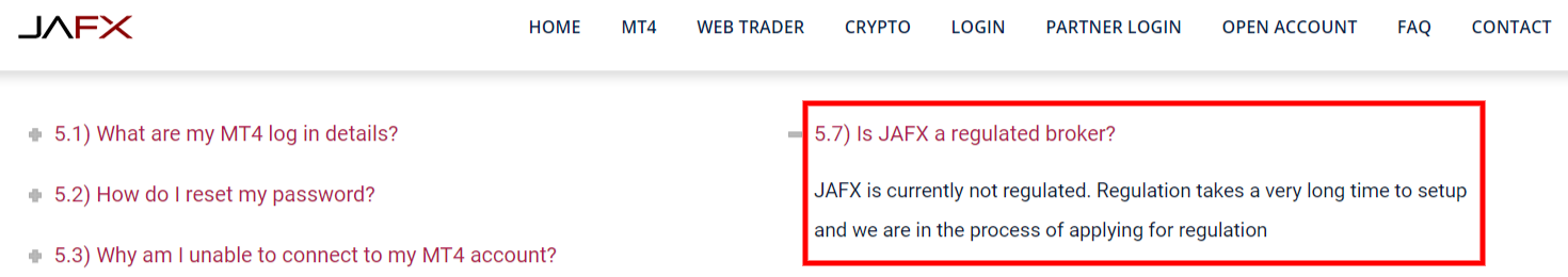 is jafx a regulated broker