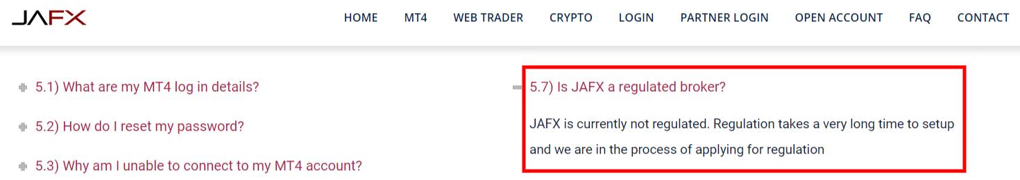 is jafx a regulated broker