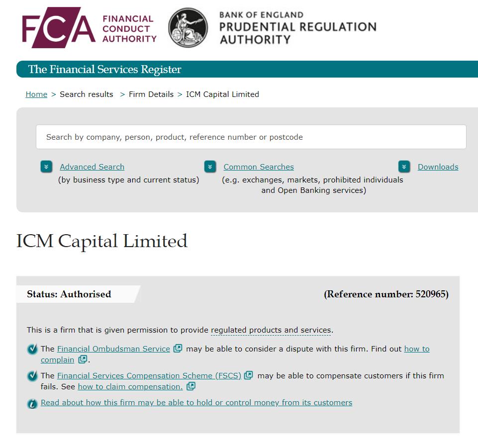 icm capital regulation