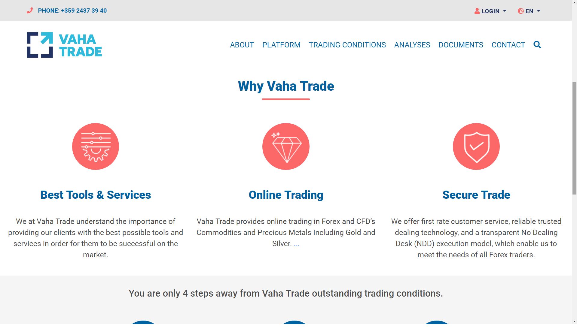 vaha trade logo